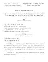 HIỆU QUẢ CỦA DẠY HỌC TÍCH HỢP LIÊN MÔN VẼ TRANH ĐỀ TÀI TỰ CHỌN VỚI MỘT SỐ MÔN HỌC KHÁC Ở TRƯỜNG TRUNG HỌC CƠ SỞ NGUYỄN VĂN TIỆP