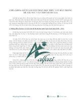 CHÌA KHÓA GIÚP làm tốt PHẦN đọc HIỂU văn bản TRONG đề THI NGỮ văn THPT QUỐC GIA
