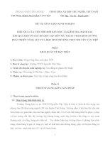 HIỆU QUẢ CỦA VIỆC ĐỔI MỚI DẠY HỌC VÀ KIỂM TRA, ĐÁNH GIÁ  KẾT QUẢ MỘT SỐ CHỦ ĐỀ HỌC TẬP MÔN MỸ THUẬT THEO ĐỊNH HƯỚNG PHÁT TRIỂN NĂNG LỰC CỦA HỌC SINH TRƯỜNG THCS NGUYỄN VĂN TIỆP