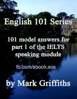 english 101 series 101 model answers for part 1 of the ielts speaking