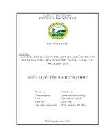Đánh giá kết quả thực hiện quy hoạch sử dụng đất trên địa bàn xã Yên Định - huyện Bắc Mê - tỉnh Hà Giang giai đoạn 2010 - 2013