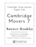 Movers 7 test book cambridge young learner english test