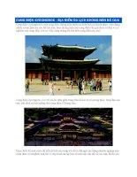 Cung điện Gyeongbok  Địa điểm du lịch không nên bỏ qua