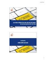 Bài giảng an toàn và bảo mật hệ thống thông tin   chuyên đề 4  phần mềm mã độc