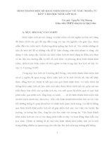 """HÌNH THÀNH MỘT SỐ KHÁI NIỆM KHI DẠY VỀ """"CHỦ NGHĨA TƯ BẢN"""" CHO HỌC SINH LỚP 10,11"""