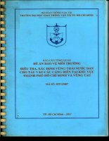 Điều tra, xác định vùng thải nước dằn cho tàu vào các cảng biển tại khu vực thành phố hồ chí minh và vũng tàu (bản full)