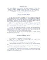 TT02 2006 hướng dẫn QD270 2005 về hoạt động quản lý và sử dụng nguồn vốn tiền gửi