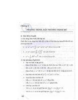Ebook phương trình   bất phương trình hữu tỉ, vô tỉ, mũ, logarit  phần 2