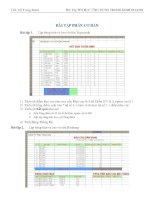Bài tập thực hành tin học ứng dụng trong kinh doanh 2