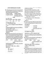 Ebook phân dạng và phương pháp giải đề thi tuyển sinh đại học và cao đẳng hóa hữu cơ  phần 2