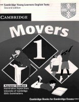 Cambridge YLE movers 1  answer booklet cambridge young learner english test