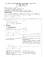 Giáo án minh họa  Dạy học theo phương pháp bàn tay nặn bột lớp 5 bài cao su