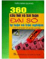 360 câu hỏi và bài tập đại số tự luận và trắc nghiệm  NXB đại học quốc gia 2007