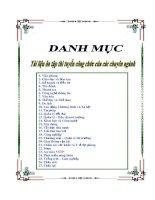 Danh mục tài liệu thi tuyển công chức các chuyên ngành