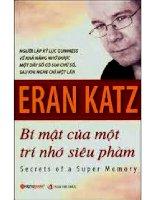 bí mật của một trí nhớ siêu phàm   eran katz