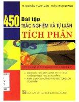 450 bài tập trắc nghiệm và tự luận tích phân  NXB đại học quốc gia 2007