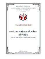 Trang bia Phương pháp và kỹ năng dạy học