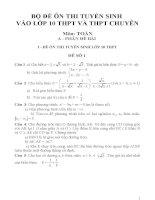 Tổng hợp một số đề ôn thi vào lớp 10 môn toán chọn lọc