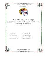 Đánh giá tình hình quản lý đất đai xã mường giôn huyện quỳnh nhai tỉnh sơn la giai đoạn 2005 2010