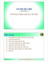 Bài giảng cơ sở dữ liệu   chương 3  ngôn ngữ truy vấn SQL