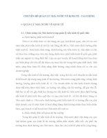 CHUYÊN ĐỀ QUẢN LÝ NHÀ NƯỚC VỀ KINH TẾ  TÀI CHÍNH (Tài liệu ôn thi công chức Kho bạc nhà nước)