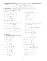 Giáo án phụ đạo toán 12 học kì 2