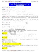 Bài giảng 8 thể tích khối lăng trụ phần 1