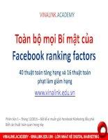 Tài liệu về Facebook marketing, những bí mật của facebook có thể bạn chưa biết