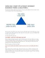 KHÓA học 2 NGÀY về ULTIMATE INTERNET BUSINESS THÁNG 3 2016 p1