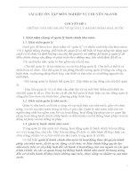 Tài liệu ôn tập môn nghiệp vụ chuyên ngành chuyên đề 1 Những vấn đề chung về quản lý hành chính nhà nước