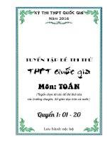 Tuyển tập đề thi thử THPT Quốc gia  2016 môn Toán