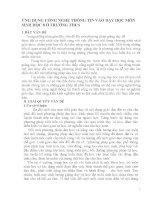 sang kien kinh nghiem ỨNG DỤNG CÔNG NGHỆ THÔNG TIN VÀO DẠY HỌC MÔN SINH HỌC 8 Ở TRƯỜNG THCS