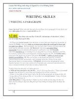 WRITING SKILLS (hướng dẫn viết luận tiếng anh thi thpt quốc gia)