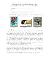 ĐÁP án đầy đủ cuộc thi tìm hiểu qua tem bưu chính năm 2016