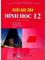 Giải bài tập hình học 12 chương trình chuẩn NXB đại học quốc gia 2008