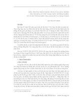 ĐẶC TRƯNG NHÂN KHẨU HỌC CỦA QUÁ TRÌNH ĐÔ THỊ HÓA Ở VIỆT NAM: MỘT SỐ PHÁT HIỆN TỪ CUỘC TỔNG ĐIỀU TRA DÂN SỐ VÀ NHÀ Ở 2009