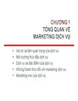 Bài giảng marketing dịch vụ   chương 1  tổng quan về marketing dịch vụ