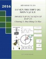 500 Bài tập tự luyện có đáp án môn lý chương dao động cơ học điều hòa