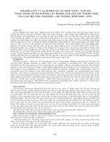 NGHIÊN CỨU TỶ LỆ NHIỄM HIV VÀ KIẾN THỨC, THÁI ĐỘ, THỰC HÀNH VỀ DỰ PHÒNG LÂY NHIỄM CỦA CÁC NỮ THÀNH VIÊN CÂU LẠC BỘ HOA PHƯỢNG - HẢI PHÒNG, NĂM 2009 - 2010