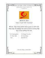Xây dựng phần mềm quản lý sinh viên thực tập tốt nghiệp cho khoa CNTT trường Đại học Công nghiệp Hà Nội