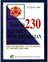 Tuyển tập 230 bài toán hình học không gian chọn lọc NXB đại học quốc gia 2001