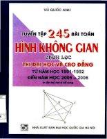 Tuyển tập 245 bài toán hình không gian chọn lọc NXB đại học quốc gia 2006
