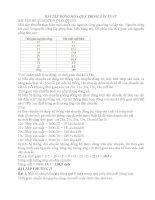 đề cương bài tập ôn thi Tự động hóa quá trình sản xuất