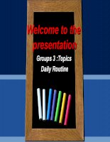 Tieng anh 1 Topic daily routines Đại học thương mại