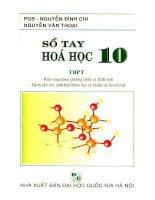 Sổ tay hóa học THPT lớp 10  NXB đại học quốc gia 2006