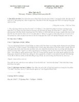 Kiểm tra học kì 2 lớp 12 môn Văn trường THPT CƯM'GAR