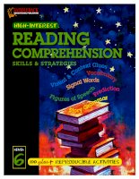 Reading comprehension skills  strategies level 6