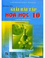Hướng dẫn giải bài tập hóa học 10 NXB đại học quốc gia 2009