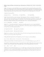 Đề và đáp án đề khảo sát môn hóa lớp 12 đầu năm học