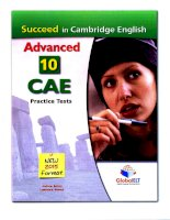 Succeed in cambridge english advanced 10 CAE practice tests